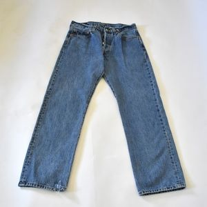 Levis 501 button fly jeans
